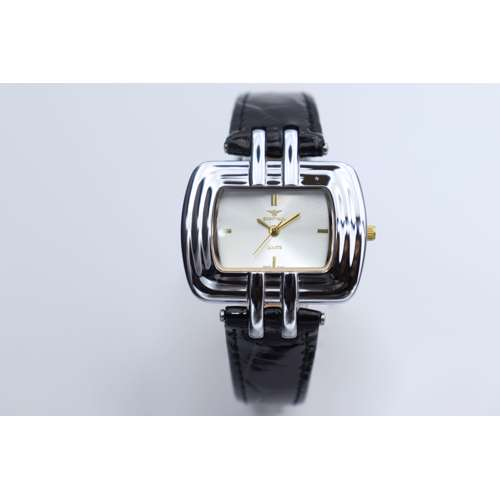 Creative Women''s Black Watch - Leather SP93423L-1