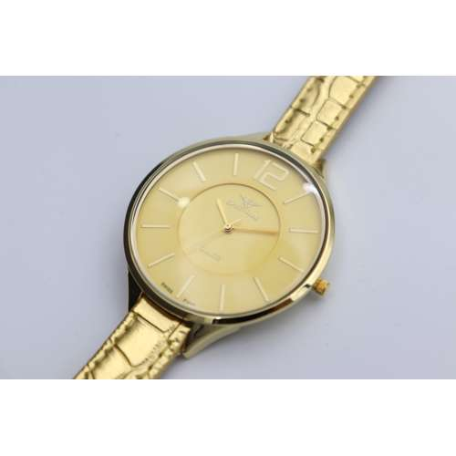 Creative Women''s Gold Watch - Leather SP93475L-1