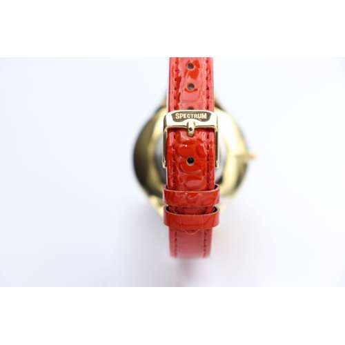 Creative Women''s Red Watch - Leather SP93475L-3