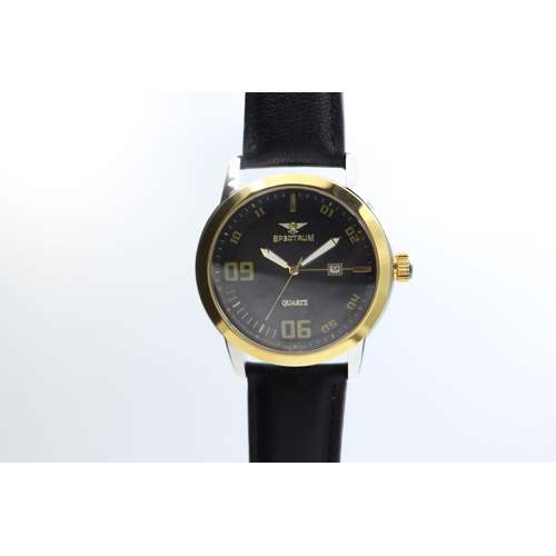 Creative Men''s Black Watch - Leather SP93620M-2
