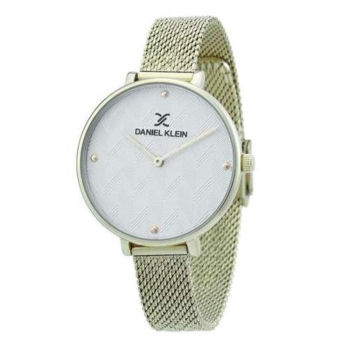 Mesh Band Womens''s Gold Watch - DK.1.12256-3