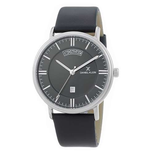 Leather Mens''s Black Watch - DK.1.12258-2