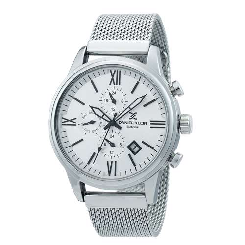 Mesh Band Mens''s Silver Watch - DK.1.12259-1
