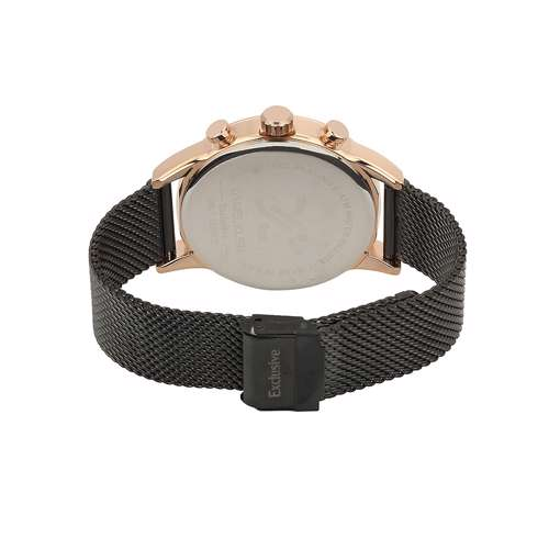 Mesh Band Mens''s Black Watch - DK.1.12259-3