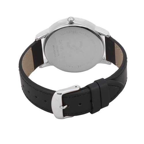 Leather Mens''s Black Watch - DK.1.12261-1