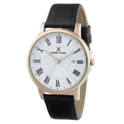 Leather Mens''s Black Watch - DK.1.12261-6