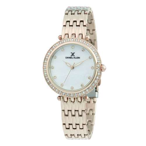 Stainless Steel Womens''s Rose Gold Watch - DK.1.12264-2