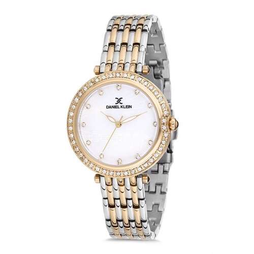 Stainless Steel Womens''s Two Tone Gold Watch - DK.1.12264-4