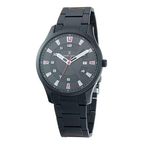 Stainless Steel Mens''s Black Watch - DK.1.12265-4