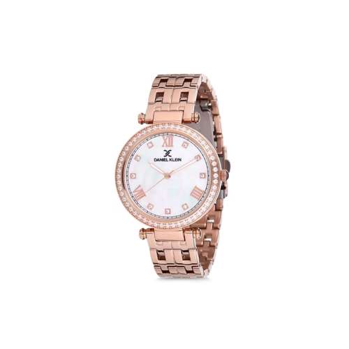 Stainless Steel Womens''s Rose Gold Watch - DK.1.12266-2