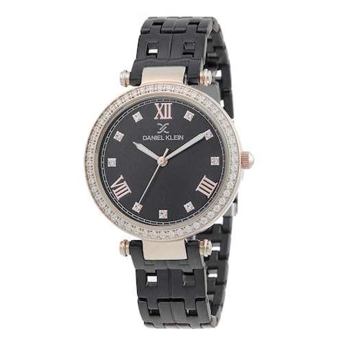 Stainless Steel Womens''s Black Watch - DK.1.12266-5