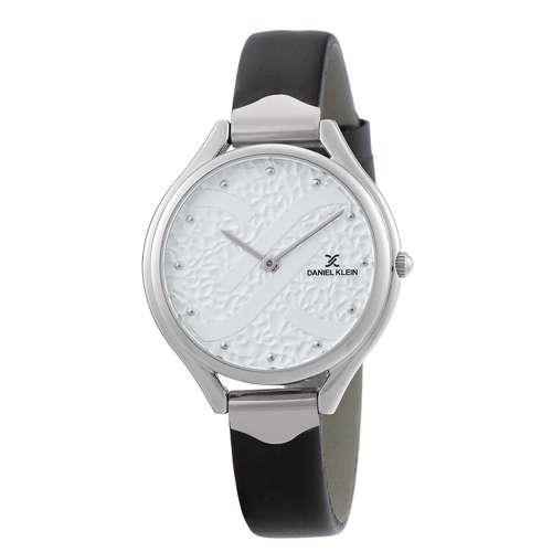 Leather Womens''s Black Watch - DK.1.12268-1