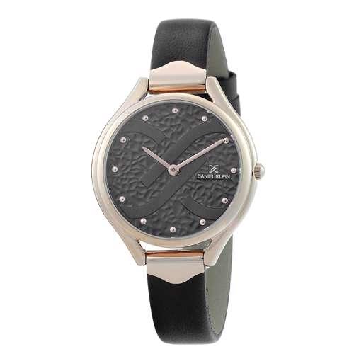 Leather Womens''s Black Watch - DK.1.12268-2