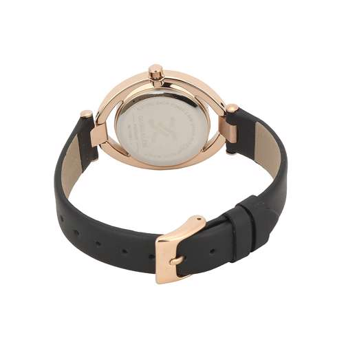 Leather Womens''s Black Watch - DK.1.12269-2