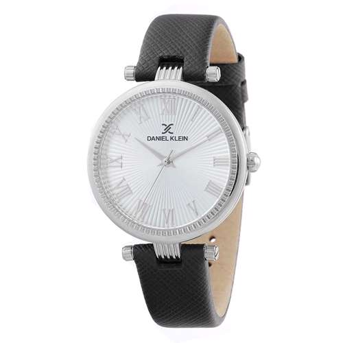 Leather Womens''s Black Watch - DK.1.12270-1