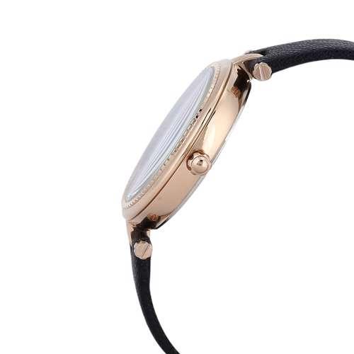 Leather Womens''s Black Watch - DK.1.12270-2
