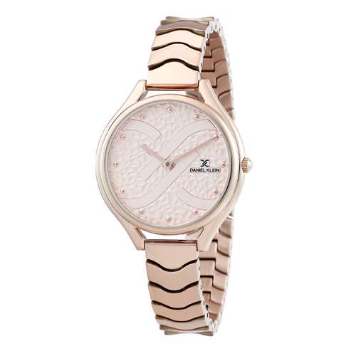Stainless Steel Womens''s Rose Gold Watch - DK.1.12271-3