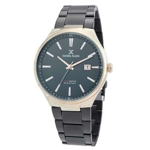 Stainless Steel Mens''s Black Watch - DK.1.12272-4