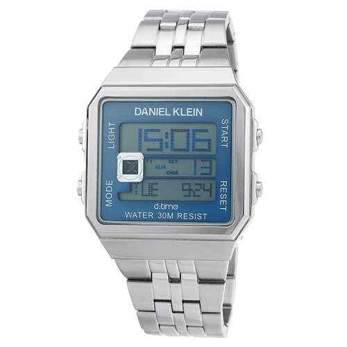 Stainless Steel Mens''s Silver Watch - DK.1.12274-3