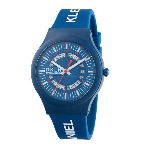 Silicone Mens''s Blue Watch - DK.1.12275-2