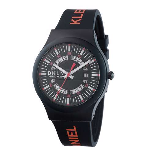 Silicone Mens''s Black Watch - DK.1.12275-6