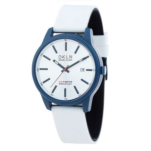 Silicone Mens''s White Watch - DK.1.12276-1