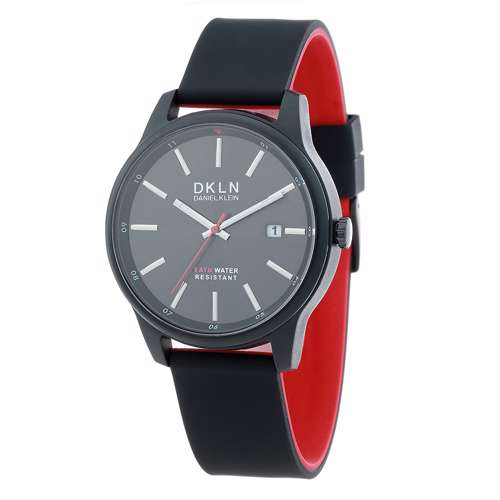 Silicone Mens''s Black Watch - DK.1.12276-5
