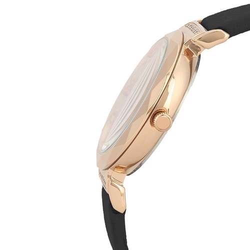 Leather Womens''s Black Watch - DK.1.12285-2