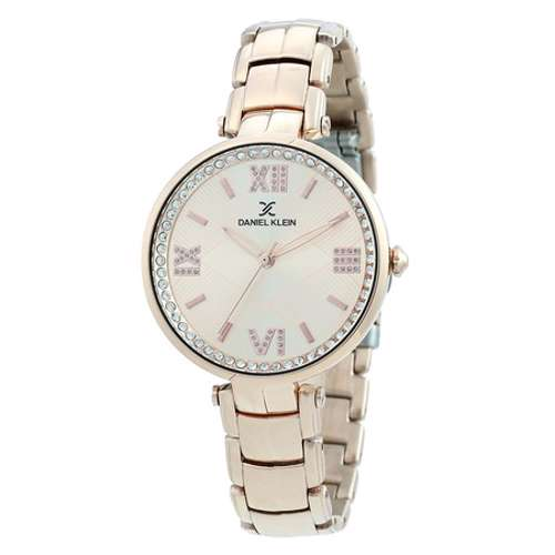 Stainless Steel Womens''s Rose Gold Watch - DK.1.12286-2