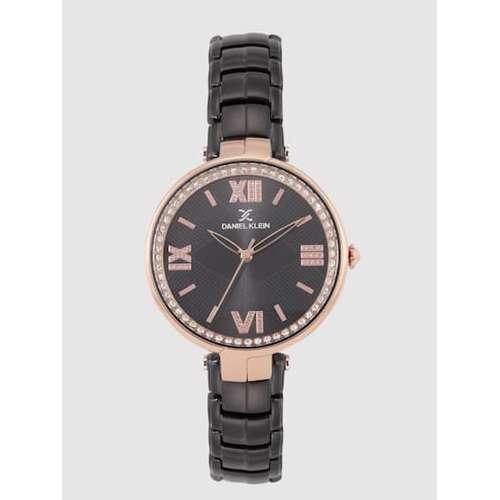 Stainless Steel Womens''s Black Watch - DK.1.12286-6