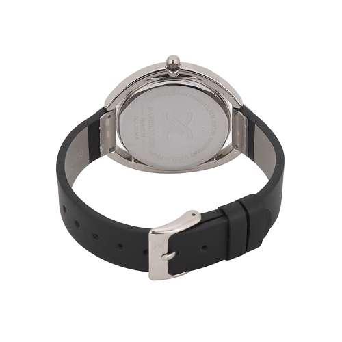 Leather Womens''s Black Watch - DK.1.12289-1