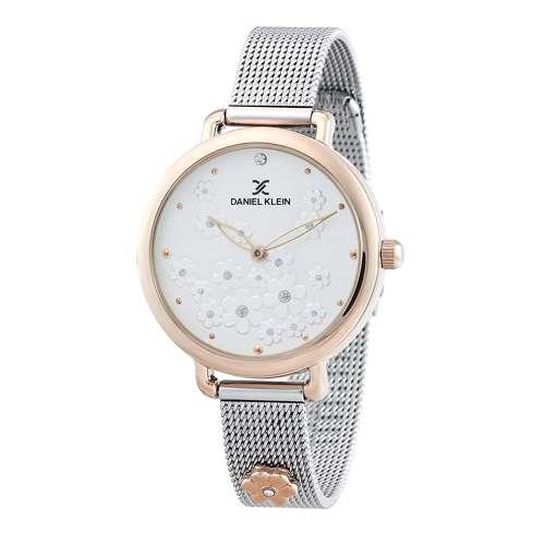 Mesh Band Womens''s Silver Watch - DK.1.12291-4
