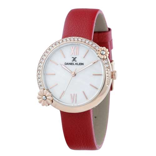 Leather Womens''s Red Watch - DK.1.12292-5