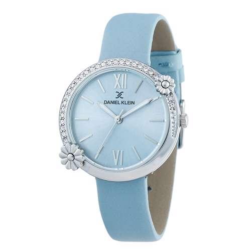 Leather Womens''s Sky Blue Watch - DK.1.12292-6