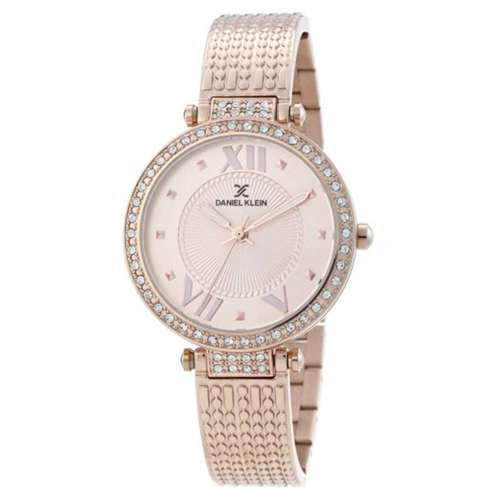 Stainless Steel Womens''s Rose Gold Watch - DK.1.12293-3