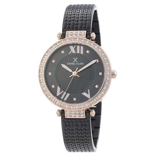 Stainless Steel Womens''s Black Watch - DK.1.12293-5