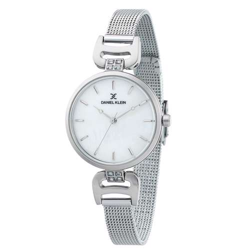 Mesh Band Womens''s Silver Watch - DK.1.12294-1