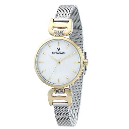 Mesh Band Womens''s Silver Watch - DK.1.12294-6