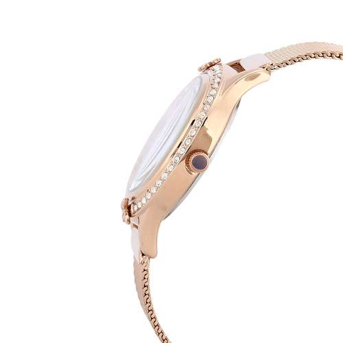 Mesh Band Womens''s Rose Gold Watch - DK.1.12295-4