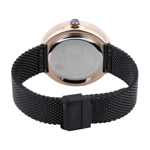 Mesh Band Mens''s Black Watch - DK.1.12296-2