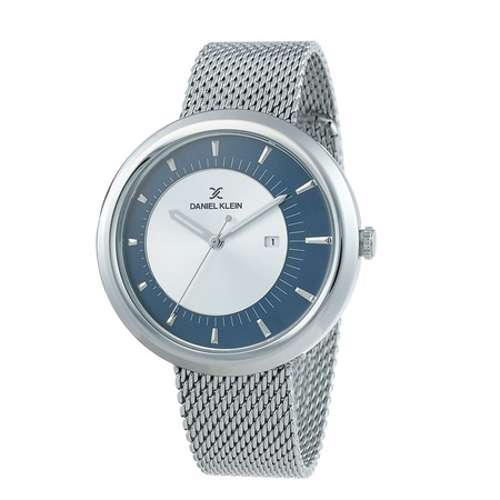 Mesh Band Mens''s Silver Watch - DK.1.12296-3