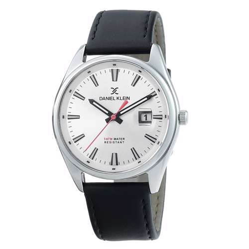 Leather Mens''s Black Watch - DK.1.12299-1