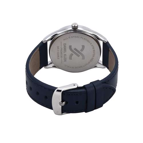 Leather Mens''s blue Watch - DK.1.12299-3