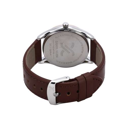 Leather Mens''s Brown Watch - DK.1.12299-4