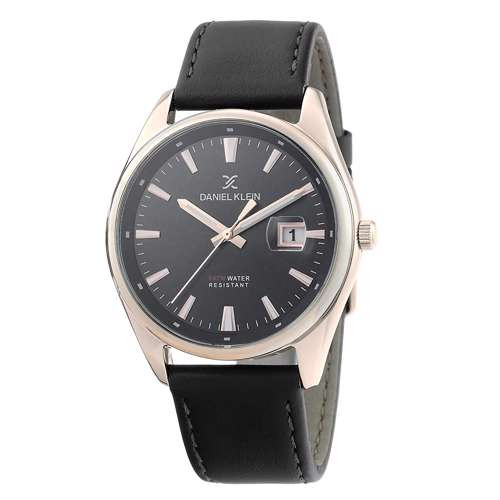 Leather Mens''s Black Watch - DK.1.12299-6