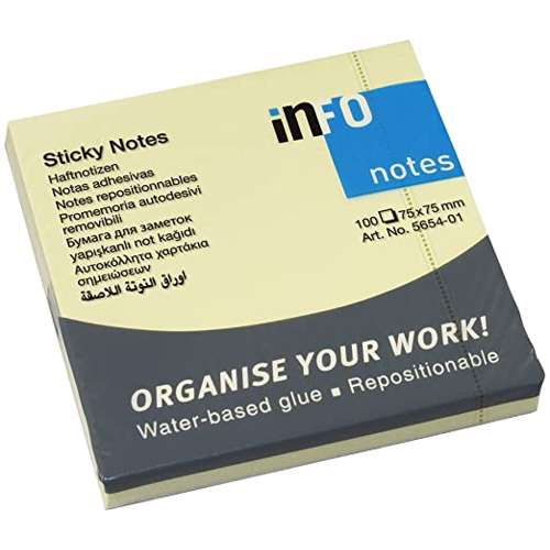 Info Notes Sticky note 3×3 (75×75mm)Yellow
