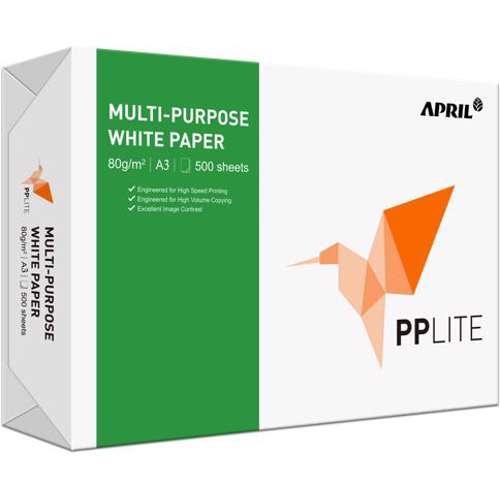 PP Lite A3, 80GSM-500 Sheets/Ream,5 Reams in a Carton