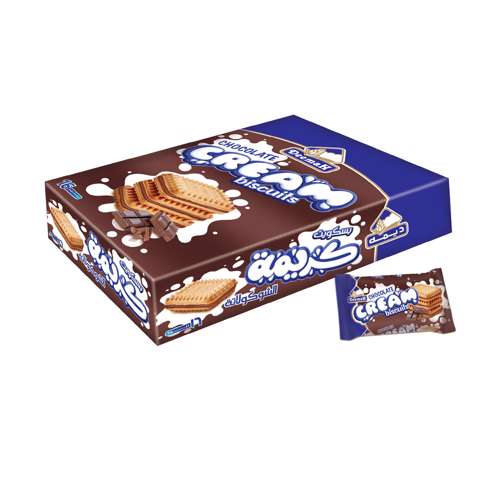 Deemah Chocolate Cream Biscuits 30gm Box 16Pcs