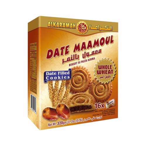 Al Karamah Date Maamoul Whole Wheat 30gm Box 16Pcs