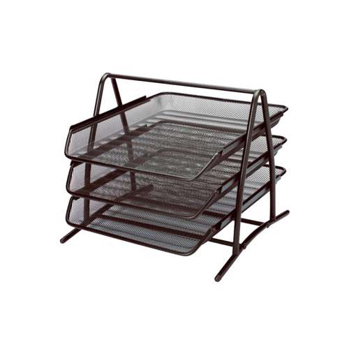 Modest Document Tray 3 Tier Mesh